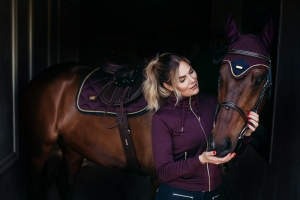 "Bluza damska Equestrian Stockholm ""Training Purple Gold"""