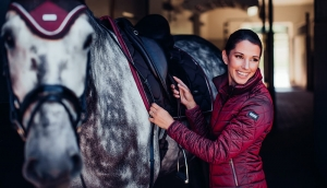 "Kurtka damska Equestrian Stockholm ""Light Bordeaux"" 24h"