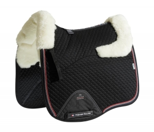 "Czaprak PREMIER EQUINE ""Dressage Square Wool"" black/natural"