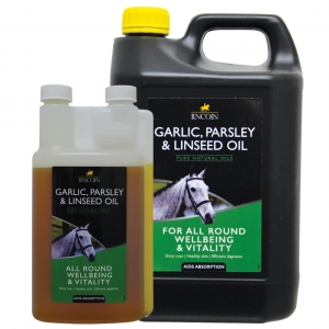 "Olej lniany z czosnkiem i pietruszką LINCOLN ""Garlic Parsley & Linseed Oil"" 1l"