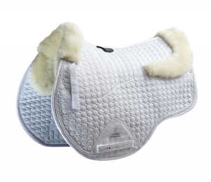 "Czaprak PREMIER EQUINE ""GP Jumping Square Wool"" white"