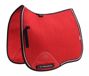 "Czaprak PREMIER EQUINE ""Dressage Square"" red"