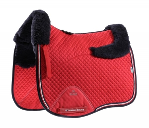 "Czaprak PREMIER EQUINE ""Dressage Square Wool"" red"