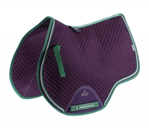 "Czaprak PREMIER EQUINE ""GP Jumping Square"" purple"