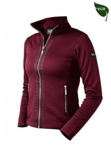 "Bluza damska Equestrian Stockholm ""Fleece Bordeaux"""