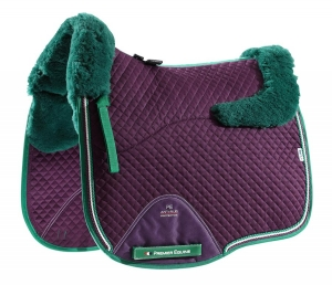 "Czaprak PREMIER EQUINE ""Dressage Square Wool"" purple"