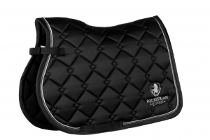 "Czaprak Equestrian Queen ""Paris"" black 24h"