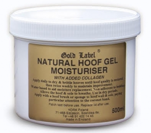 "Nawilżający żel do kopyt Gold Label ""Hoof Gel Moisturiser Natural"" 500 g"