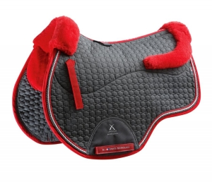 "Czaprak PREMIER EQUINE ""GP Jumping Square Wool"" grey"