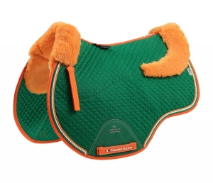 "Czaprak PREMIER EQUINE ""GP Jumping Square Wool"" green"