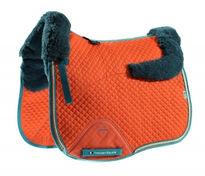 "Czaprak PREMIER EQUINE ""Dressage Square Wool"" orange"