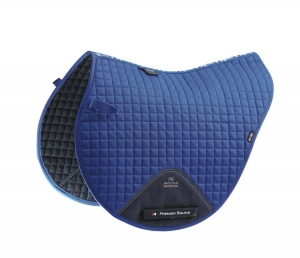 "Czaprak PREMIER EQUINE ""Cotton Close Contact Cross"" royal blue 24h"