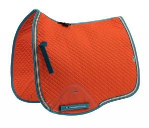 "Czaprak PREMIER EQUINE ""Dressage Square"" orange"