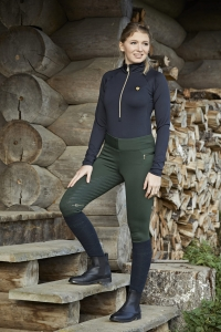 "Legginsy bryczesy zimowe Covalliero ""Collection"" AW2020 dark green 24h"