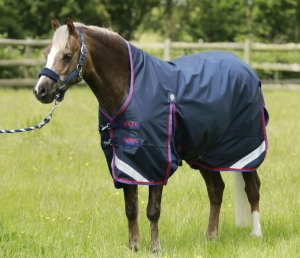 "Derka padokowa PREMIER EQUINE ""Buster Hardy High Neck Pony"" navy 0 g"