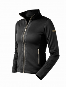 "Bluza damska Equestrian Stockholm ""Fleece Black Edition Gold"""