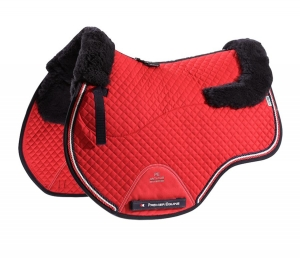 "Czaprak PREMIER EQUINE ""GP Jumping Square Wool"" red"