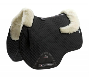 "Czaprak PREMIER EQUINE ""GP Jumping Square Wool"" black/natural"